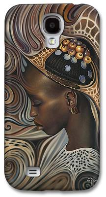 African Paintings Galaxy S4 Cases