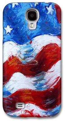American Independance Mixed Media Galaxy S4 Cases