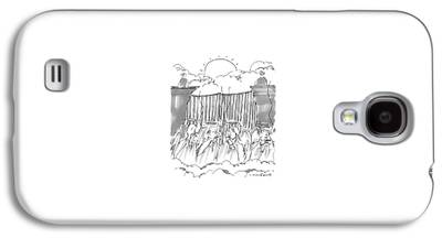 Angels Smoking Drawings Galaxy S4 Cases