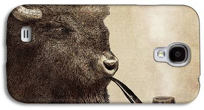 Bison Drawings Galaxy S4 Cases