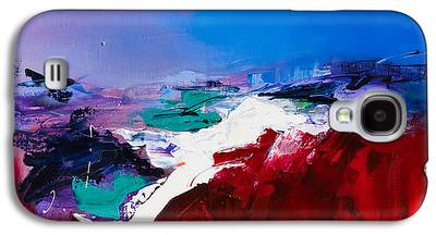 Red Abstract Paintings Galaxy S4 Cases