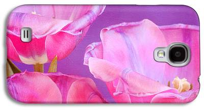 Pinks And Purple Petals Photographs Galaxy S4 Cases