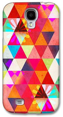 Surreal Geometric Galaxy S4 Cases