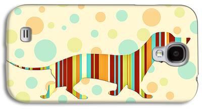 Funny Dog Digital Art Galaxy S4 Cases