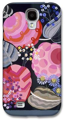 Blue Abstracts Drawings Galaxy S4 Cases