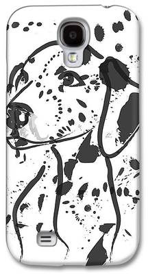 Dog Abstract Art Galaxy S4 Cases