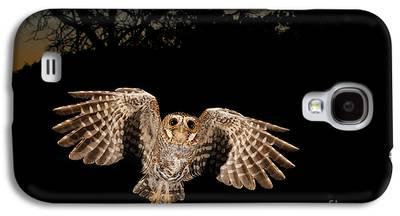 Birds In Flight At Night Galaxy S4 Cases