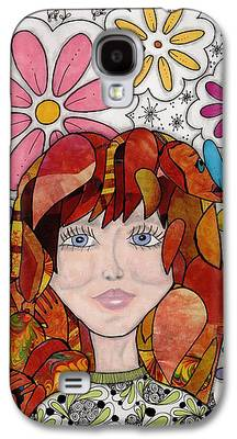 Abstract Collage Drawings Galaxy S4 Cases