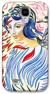 Spiritual Portrait Of Woman Galaxy S4 Cases