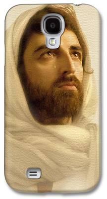 Jesus Christ Digital Art Galaxy S4 Cases