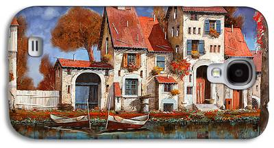 Village Paintings Galaxy S4 Cases