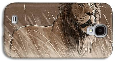 Lion Digital Art Galaxy S4 Cases