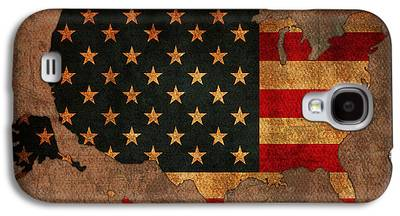 United States Of America Mixed Media Galaxy S4 Cases
