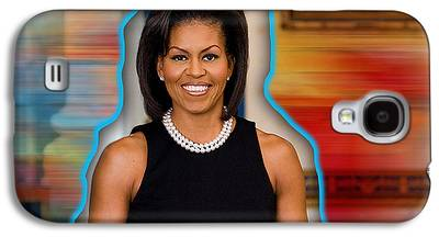 Michelle Obama Mixed Media Galaxy S4 Cases