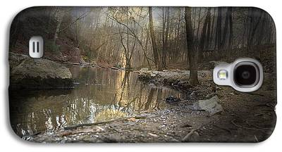 Trees Reflecting In Creek Galaxy S4 Cases