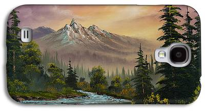 Sawtooth Mountain Paintings Galaxy S4 Cases