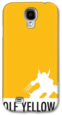 Yellow Digital Art Galaxy S4 Cases