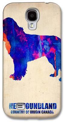 Newfoundland Puppy Digital Art Galaxy S4 Cases