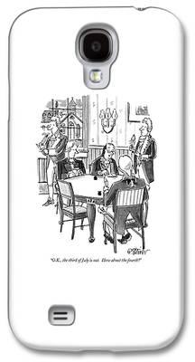 Benjamin Franklin Drawings Galaxy S4 Cases