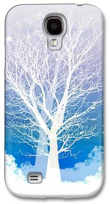Blue Abstracts Galaxy S4 Cases