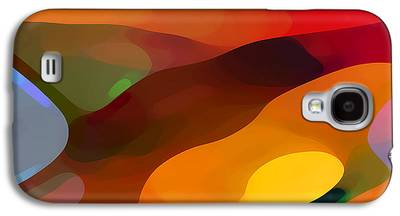 Red Abstracts Digital Art Galaxy S4 Cases