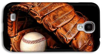 Softball Photographs Galaxy S4 Cases