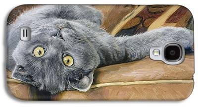Domestic Short Hair Cat Galaxy S4 Cases