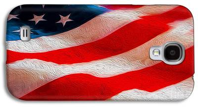 Old Glory Mixed Media Galaxy S4 Cases