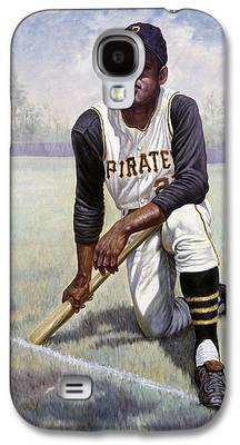 Roberto Clemente Mixed Media Galaxy S4 Cases