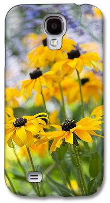 Abstracted Coneflowers Photographs Galaxy S4 Cases