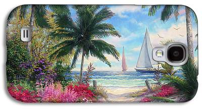 Sailboat Paintings Galaxy S4 Cases