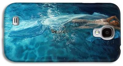 Angel Mermaids Ocean Galaxy S4 Cases