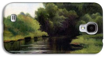 Swan Creek In Tennessee Paintings Galaxy S4 Cases