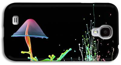 Abstract Fountain Galaxy S4 Cases
