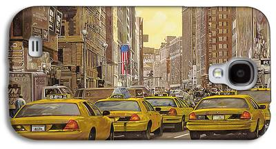 City Scenes Paintings Galaxy S4 Cases