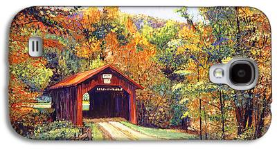 Covered Bridge Paintings Galaxy S4 Cases