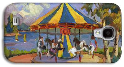 Carousel Horse Paintings Galaxy S4 Cases