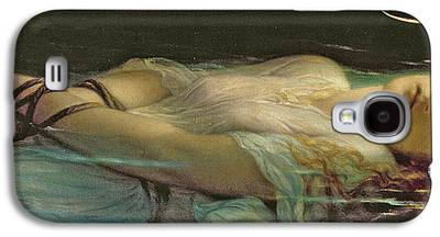 Floating Girl Paintings Galaxy S4 Cases