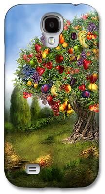 Fruit Tree Art Giclee Galaxy S4 Cases