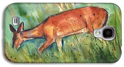 Deer On Beach Galaxy S4 Cases