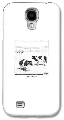 Cow Galaxy S4 Cases