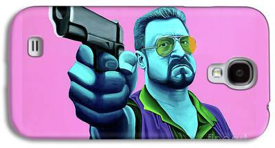 Lebowski Paintings Galaxy S4 Cases