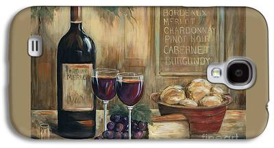 Glass Of Wine Paintings Galaxy S4 Cases