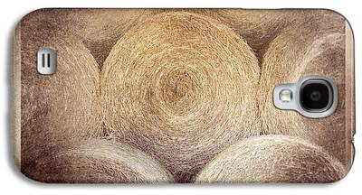 Haybale Digital Art Galaxy S4 Cases