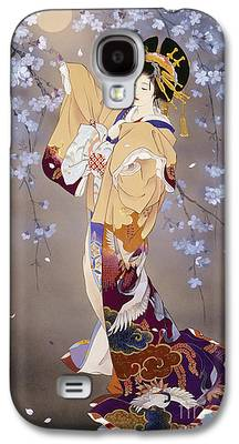 Cherry Blossoms Digital Art Galaxy S4 Cases