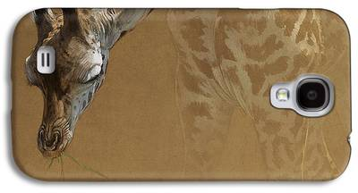 Giraffe Digital Art Galaxy S4 Cases