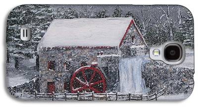 Longfellow S Grist Mill Paintings Galaxy S4 Cases