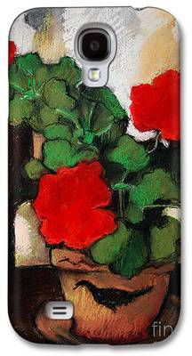 Red Geraniums Galaxy S4 Cases