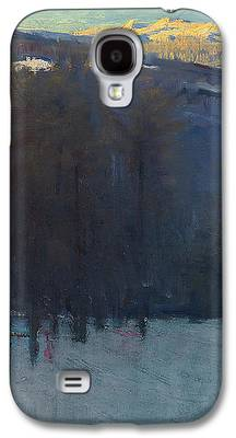 New England Snow Scene Paintings Galaxy S4 Cases