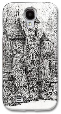 Haunted House Drawings Galaxy S4 Cases